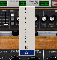 最大同時発音を32に変更
