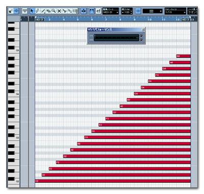 Minimoog V 負荷実験用MIDIトラック