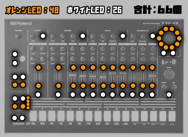 TR-8 LED交換箇所