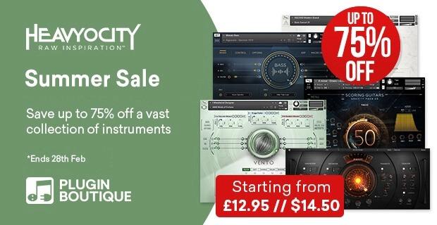 Heavyocity 最大75%OFF Summer Saleは6月30日まで!